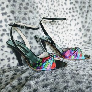 Marc Jacobs | Multicolor Satin Ankle Wrap Sandal